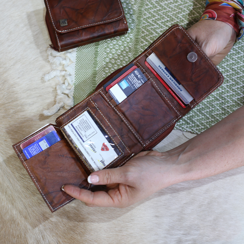 billetera pequeña compacta